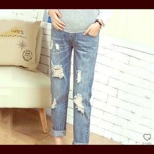 Distressed Maternity Jeans Size Large